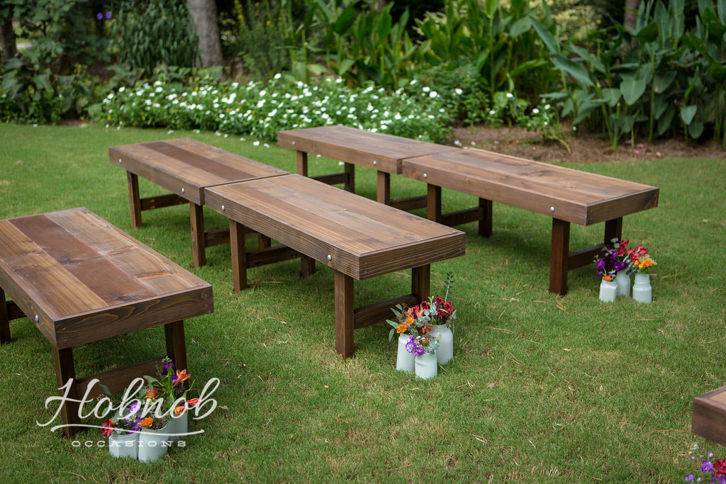 Hobnob Occasions - Wooden Benches