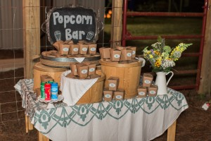 Popcorn Bar  photo credit--Libby McGowan Photography