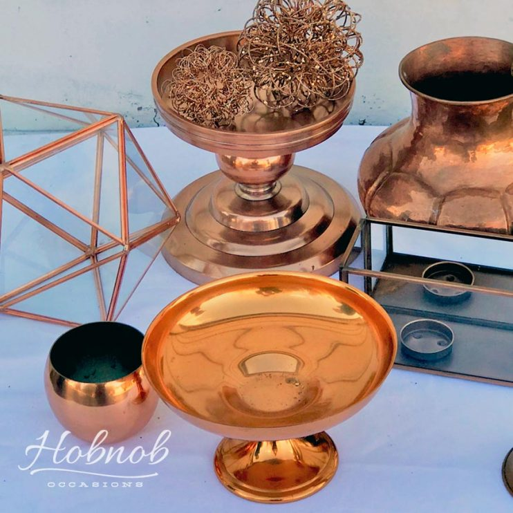 Hobnob Occasions Copper Decorative Pieces