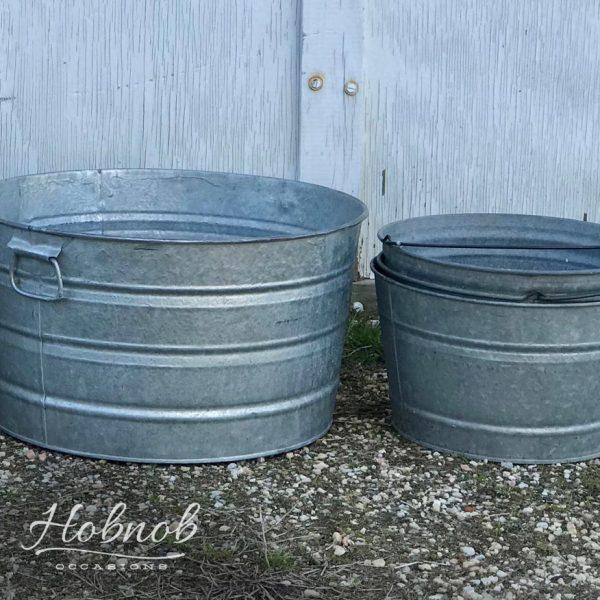 Hobnob Occasaions Galvanized Tubs