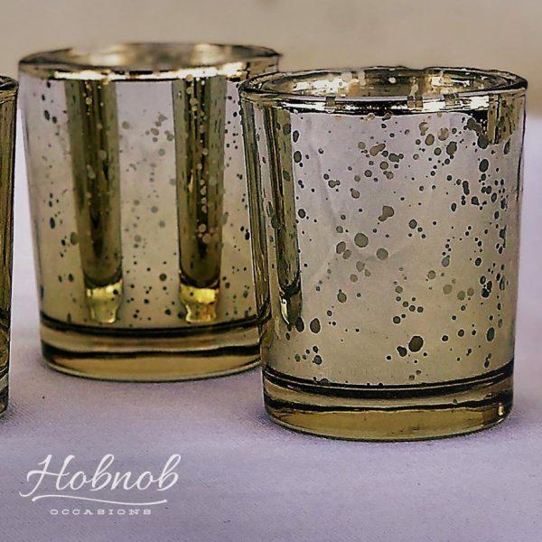 Hobnob Occasions Mercury Gold Votives