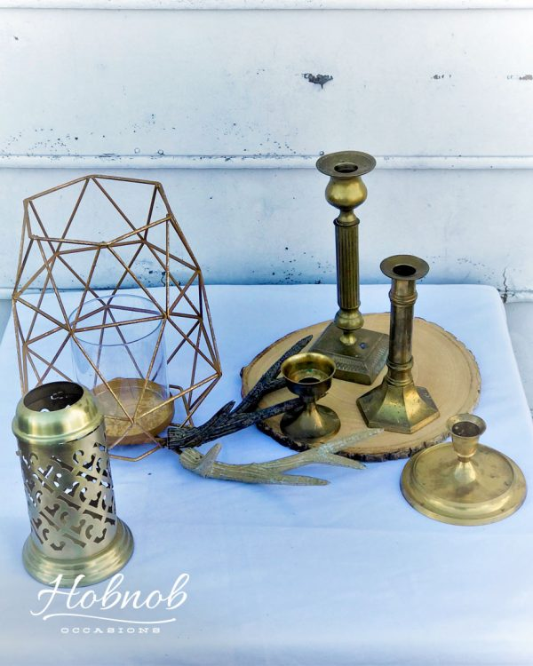Hobnob Occasions Brass & Gold Decor